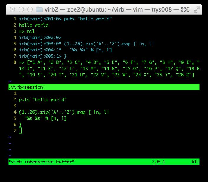 Github Danchoi Virb Interactive Vim Mode For Irb Rails