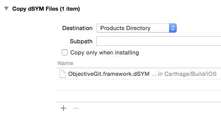 Copy dSYM Files