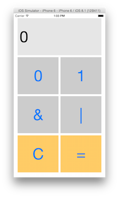 Screenshot of BinaryCalculator