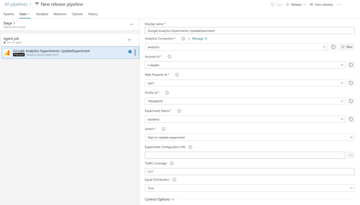 Google Analytics task