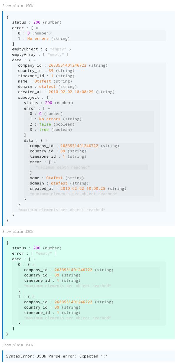 GitHub - Stanko/jquery rainbowJSON: JSON pretty print