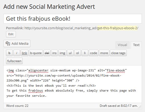 Social Marketing Add New