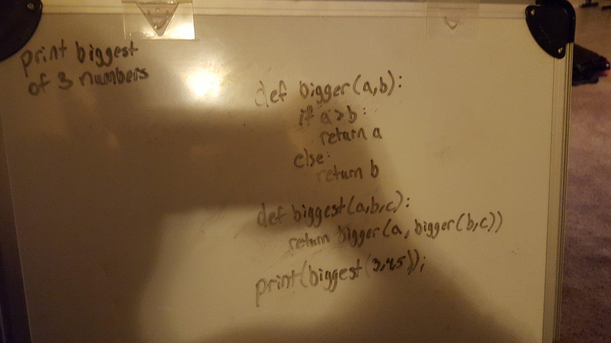 White Board Python code
