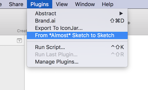 Using sketch plugin