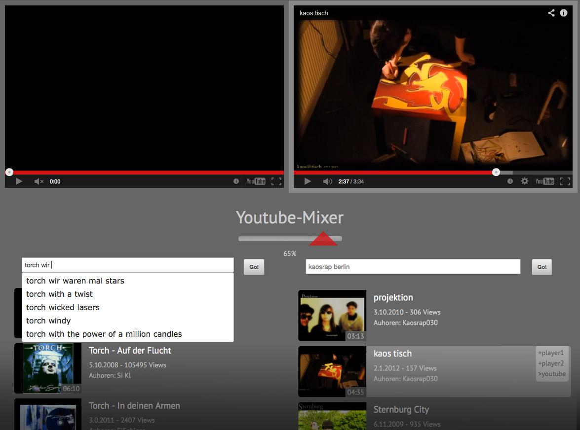 html-youtube-mixer