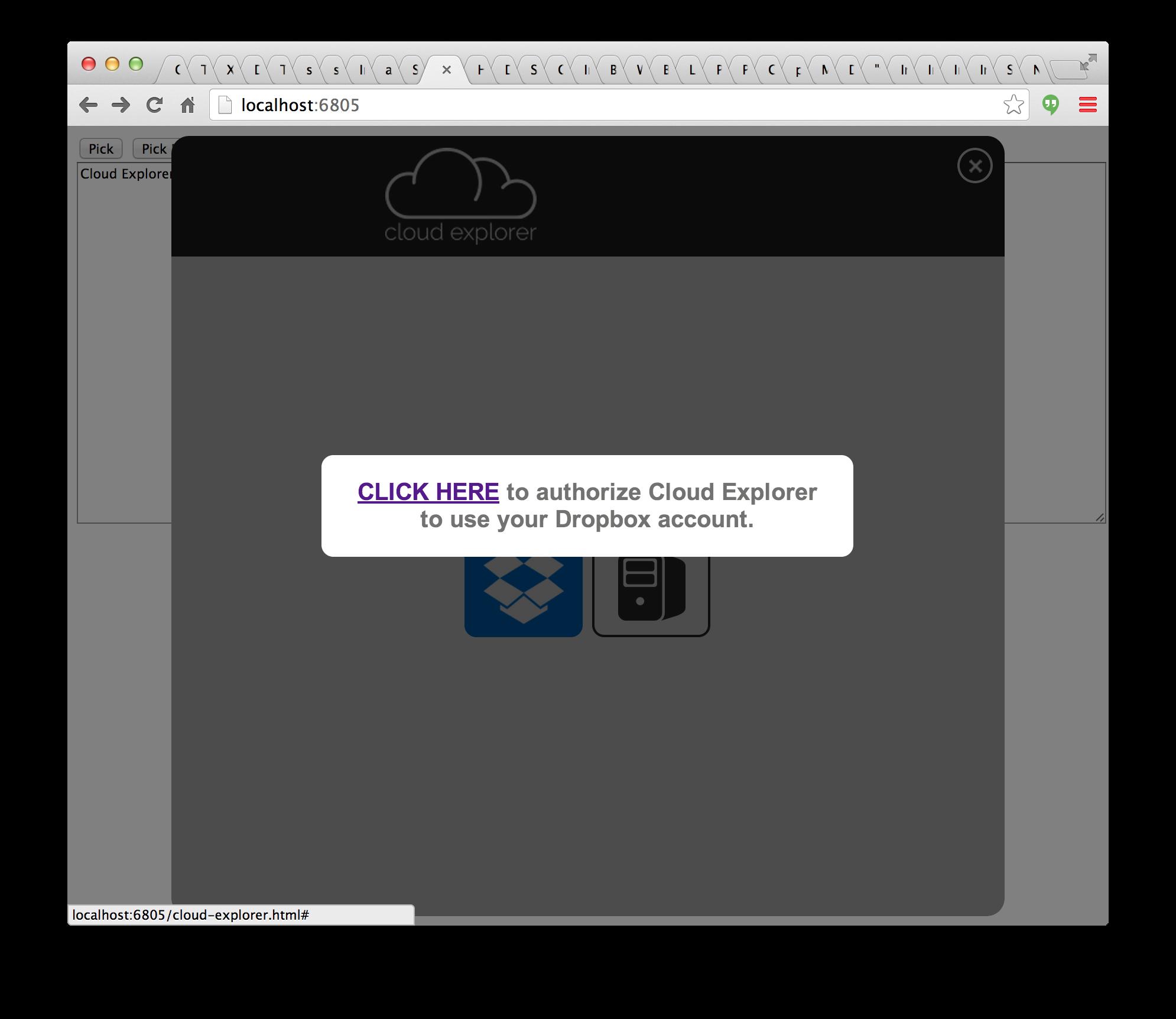Cloud explorer user interface