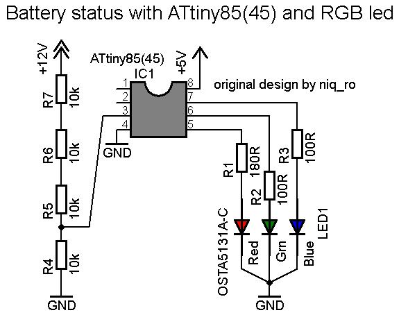 Github Tehniq3 Attiny85 Battery Status Attiny85 As Arduino