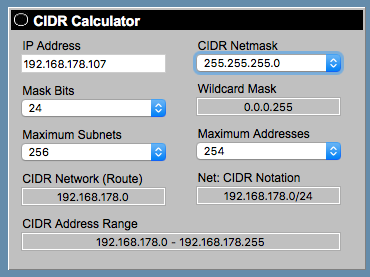 Calculating the CIDR