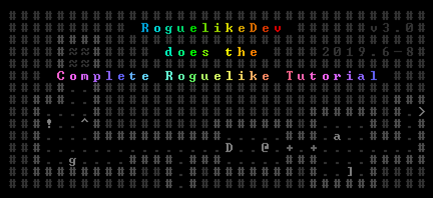 RoguelikeDev Does the Complete Roguelike Tutorial Event Logo