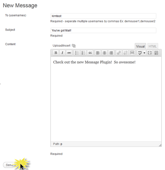 Easy to Send messages
