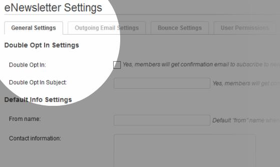 General Settings – your default settings.