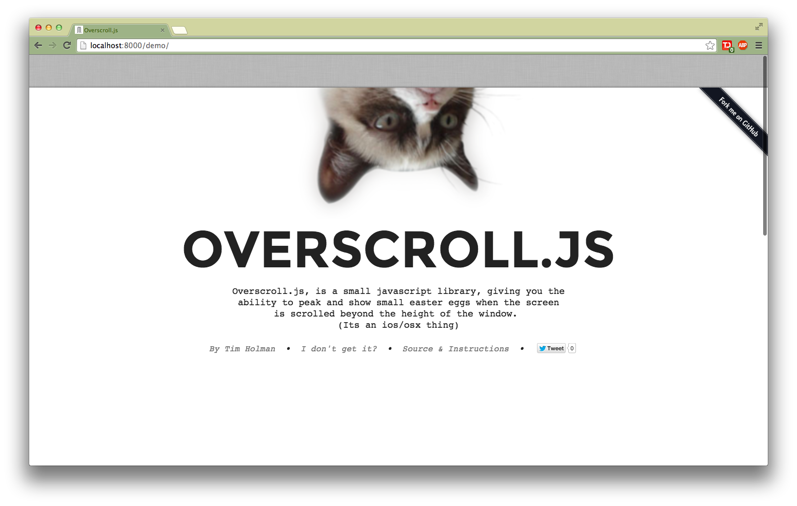 Overscroll.js doing its thing