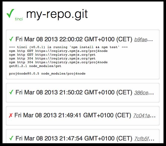 Screenshot of tinci GUI