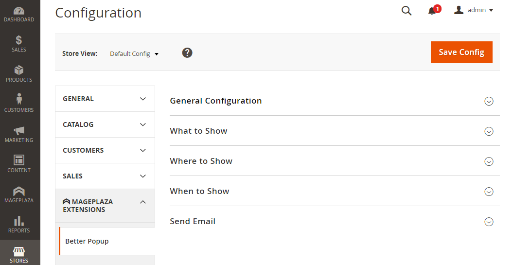 How to configure Magento 2 Popup extension