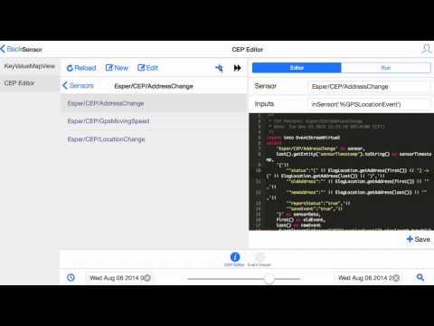 Complex event pattern editor