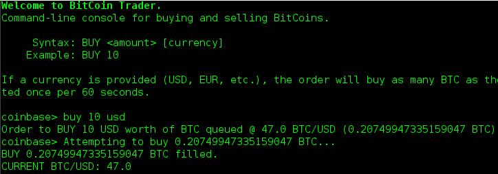 Example Bitcoin Trader