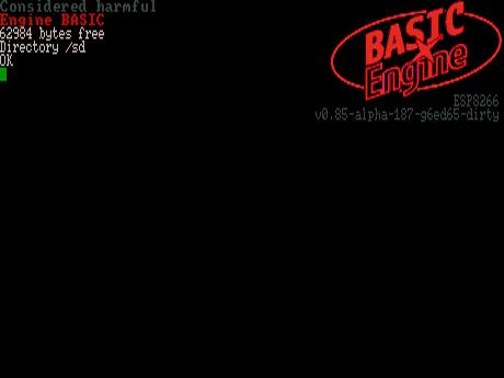 BASIC Engine Startup Screen