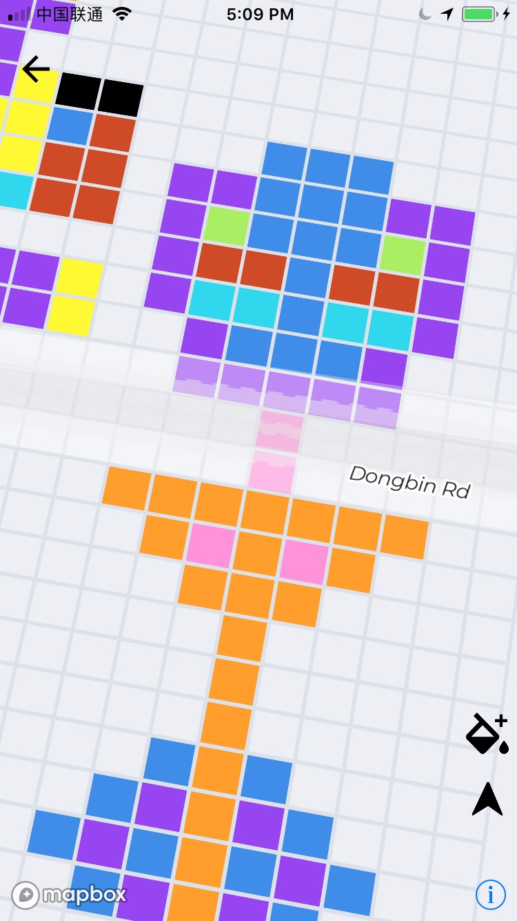 Achieving equal size of square/pixel on Mapbox anywhere on
