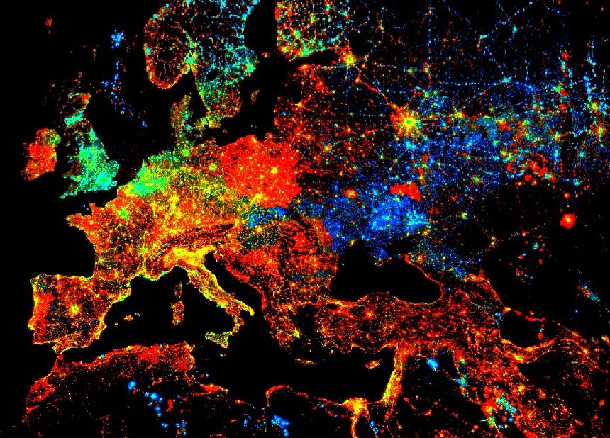 Trendy Lights Image - Satellite Imagery using Google Earth Engine