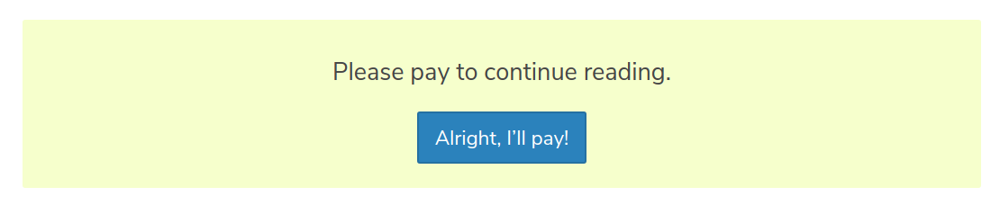 Custom pay form example