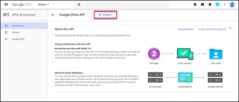 Google Drive API Client ID and Client Secret · Cloudbox