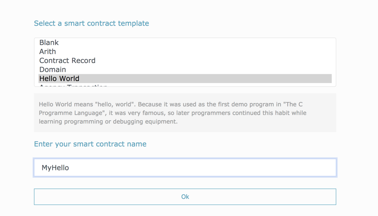 Ontology Smartcontract The Hello World Contract Md At Master Ontio