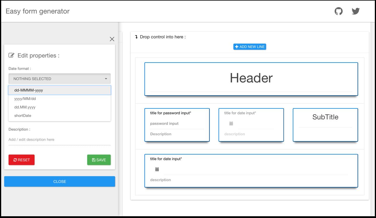 GitHub - MacKentoch/easyFormGenerator: create amazing forms without
