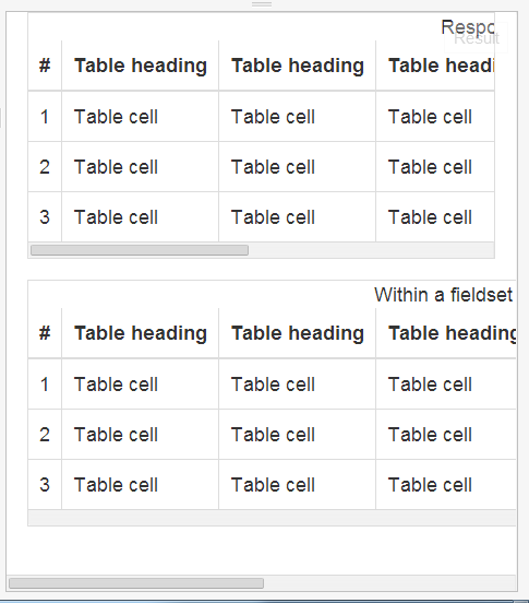 bootstrap table styles responsive