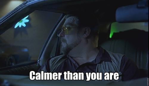 calmer than you are