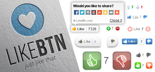 jQuery Like Button Rating Plugin