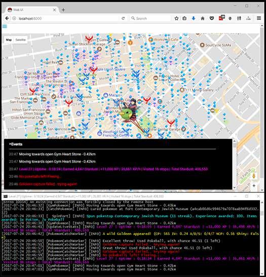 Bot Map and Terminal