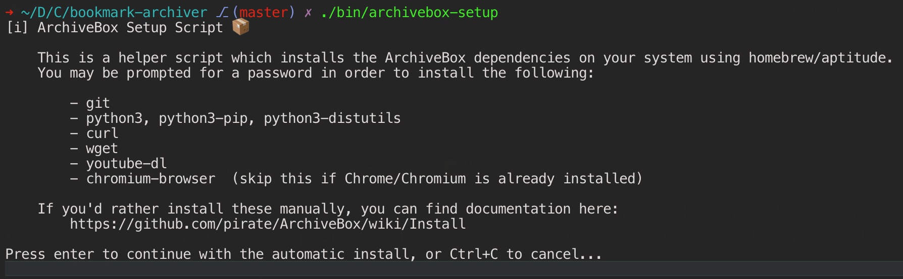 Install · pirate/ArchiveBox Wiki · GitHub