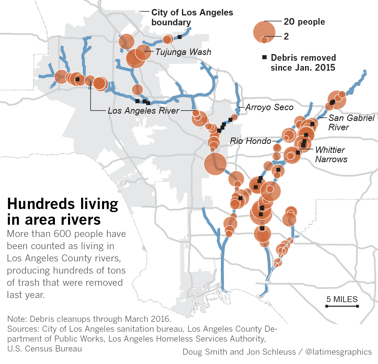 River homeless map