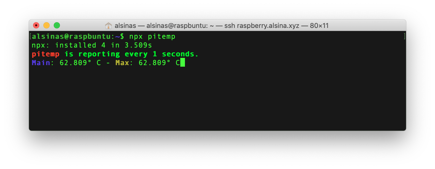 pitemp screenshot