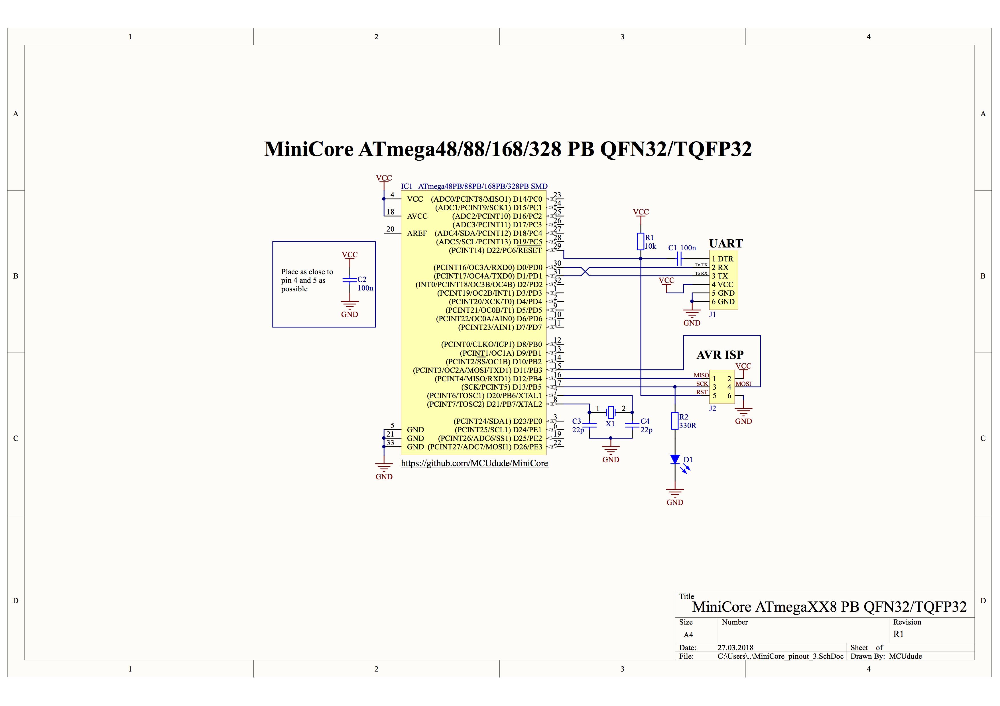 GitHub - MCUdude/MiniCore: Arduino hardware package for