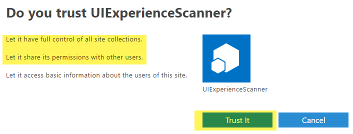 PnP-Tools/Solutions/SharePoint UIExperience Scanner at