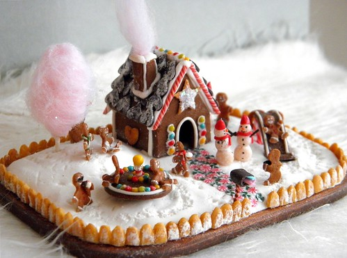 12月っぽいアイス(お菓子?)の家