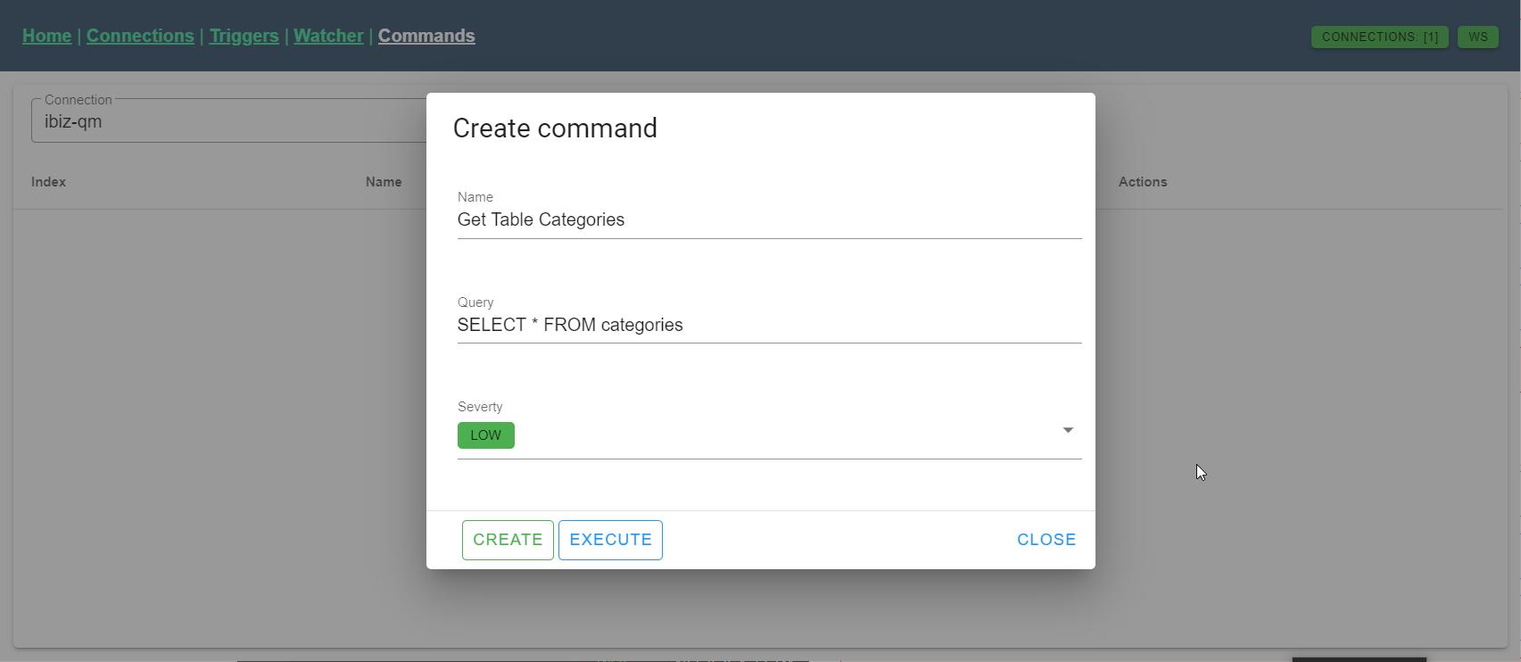 Quick commands - Create