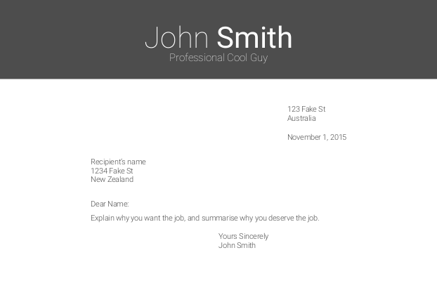 letter printscreen - Templates For Cover Letters