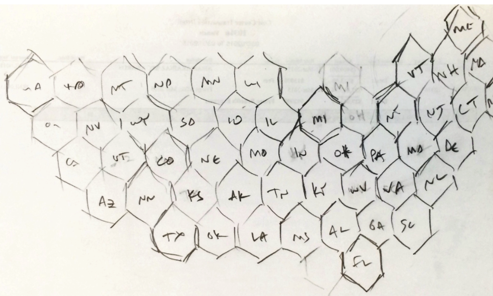 Brian's hex grid sketch.