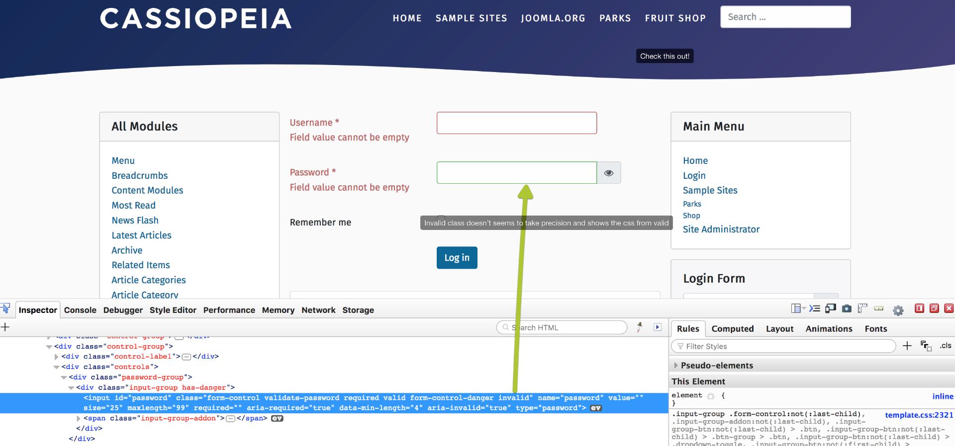 Joomla! Issue Tracker | Joomla! CMS #18634 - [4 0] Invalid