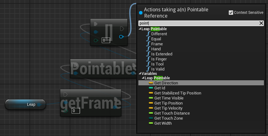 Github getnamoleap ue4 leap motion plugin for unreal engine 4 pointable functions and properties malvernweather