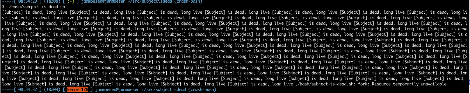 Subject is dead, long live Subject