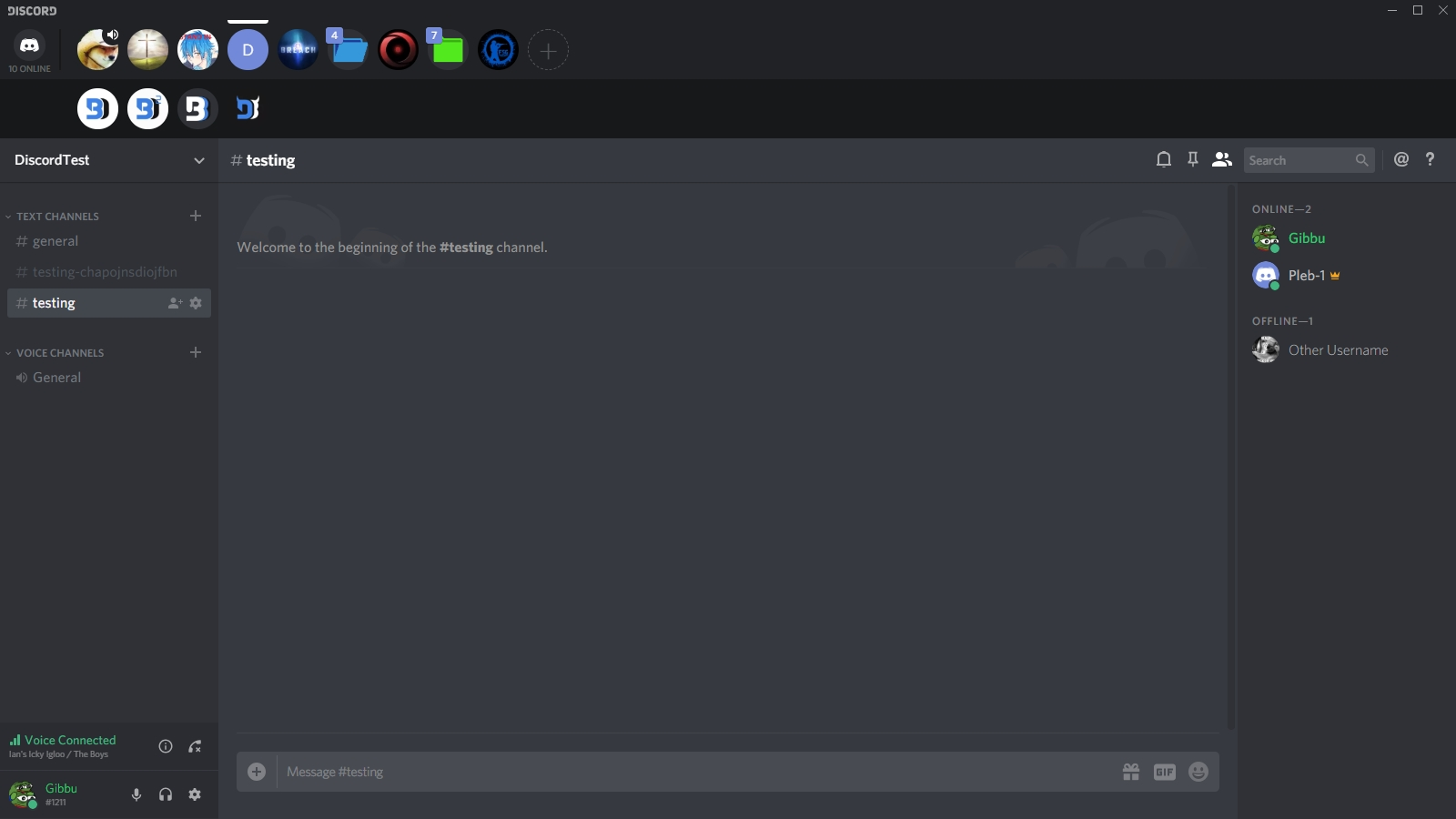 BetterDiscord-Themes/HorizontalServerlist at master · Gibbu