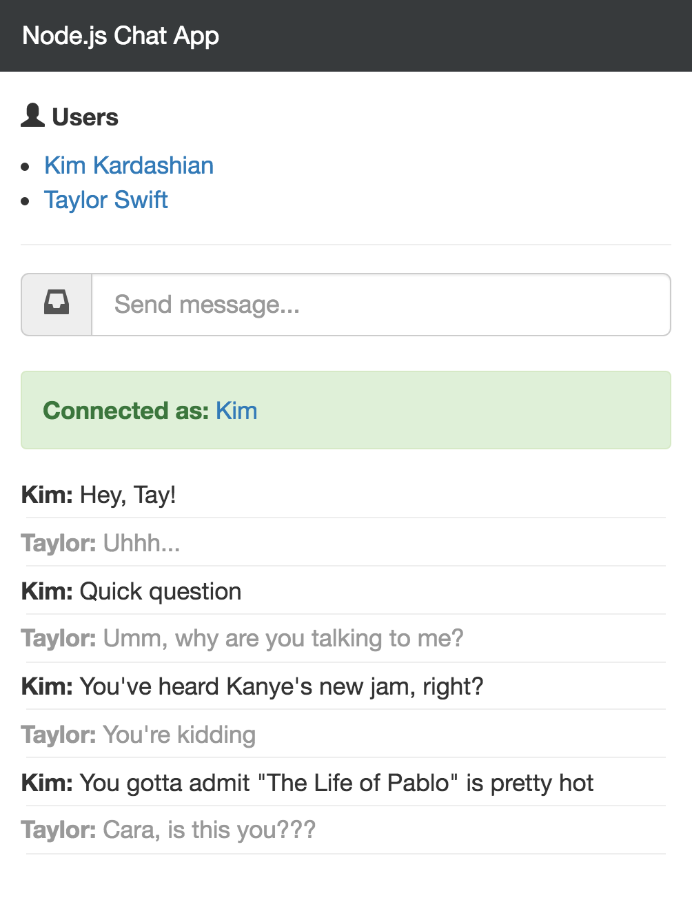 image of Node.js chat app