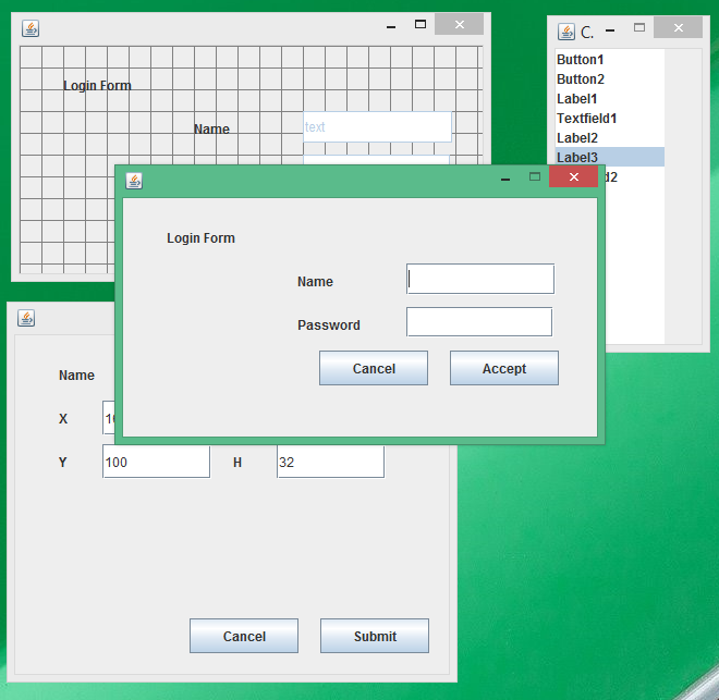 GitHub - kmangutov/GuiBuilder: Java Swing GUI Builder