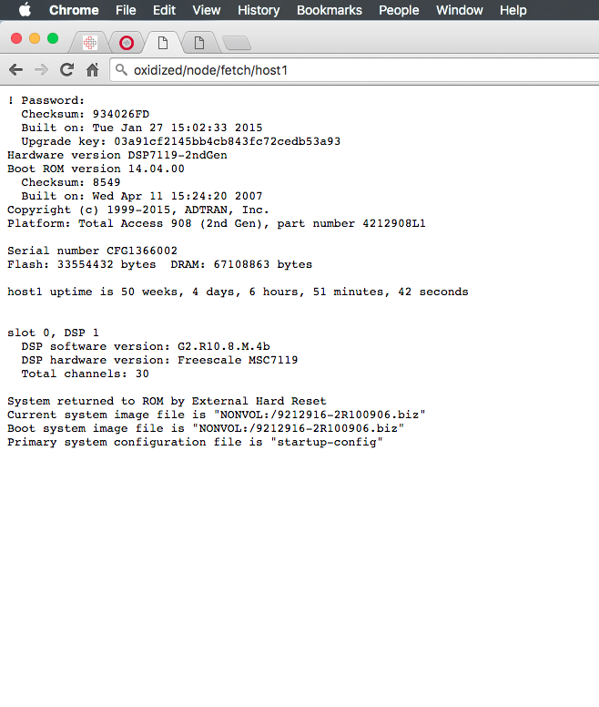 Input debug file shows entire config, but web interface