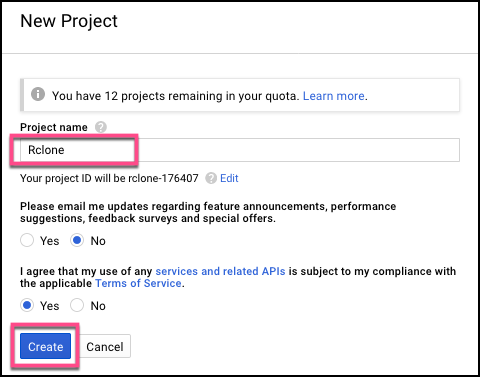 Google Drive API Client ID and Client Secret · Cloudbox/Cloudbox