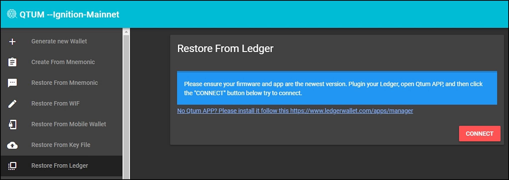 14. Restore from Ledger EN