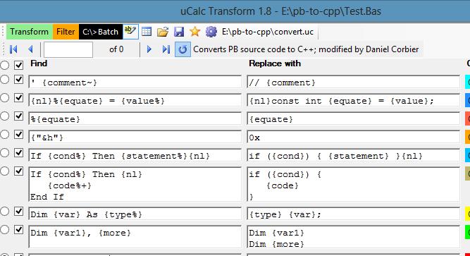 uCalc Transform